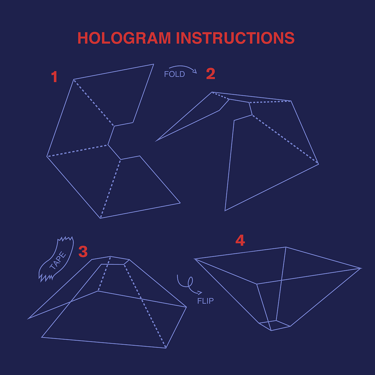 Hologram instructions